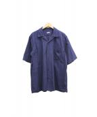 COMOLI(コモリ)の古着「オープンカラーシャツ」 ネイビー