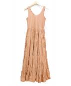 MARIHA(マリハ)の古着「草原の虹のドレス」 ベージュ