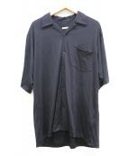 COMOLI(コモリ)の古着「ウール天竺半袖シャツ」|ブラック