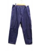 WISLOM(ウィズロム)の古着「ワイドテーパードデニム」|ブルー