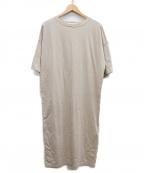 INSCRIRE(アンスクリア)の古着「カットソーワンピース」|ベージュ