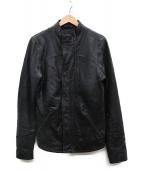 DENHAM(デンハム)の古着「レザージャケット」|ブラック