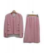 CHANEL(シャネル)の古着「ウールセットアップ」|ピンク