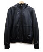 COMME CA MEN(コムサメン)の古着「ラムレザージャケット」 ブラック