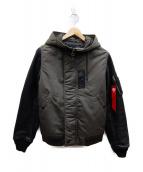 ALPHA(アルファ)の古着「N-2Bジャケット」|セージ×ブラック