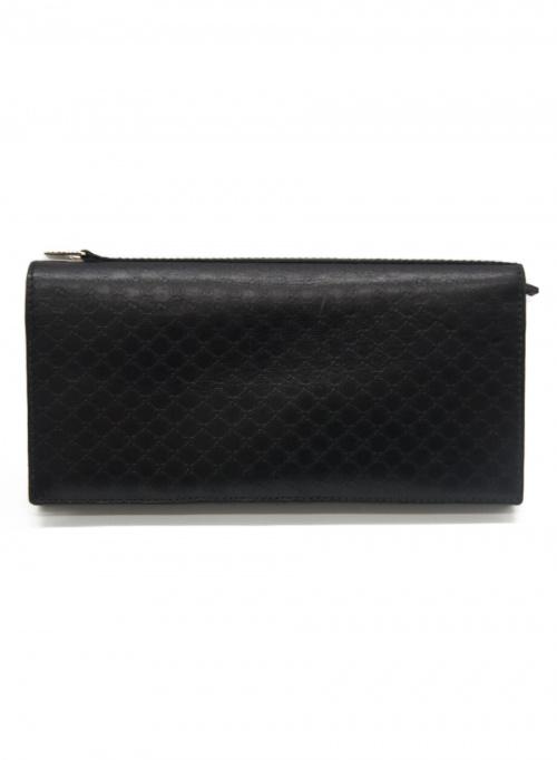 GUCCI(グッチ)GUCCI (グッチ) 長財布 ブラック サイズ:- マイクロGG 130-8004822693 レザー 030 4276 1663の古着・服飾アイテム