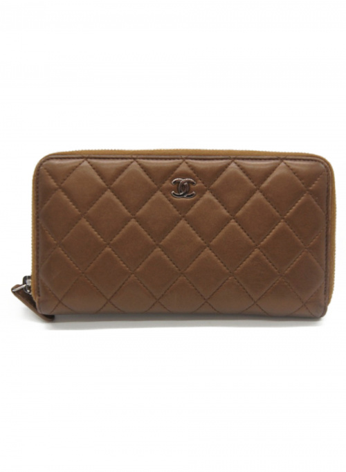 CHANEL(シャネル)CHANEL (シャネル) 長財布 ブラウン サイズ:- マトラッセ 18225597の古着・服飾アイテム