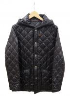 Traditional Weatherwear()の古着「フーデットキルティングジャケット」 ブラック