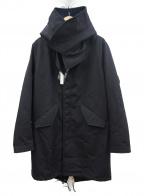 FRED PERRY(フレッドペリー)の古着「ボンデッド フィッシュテールパーカ」|ブラック