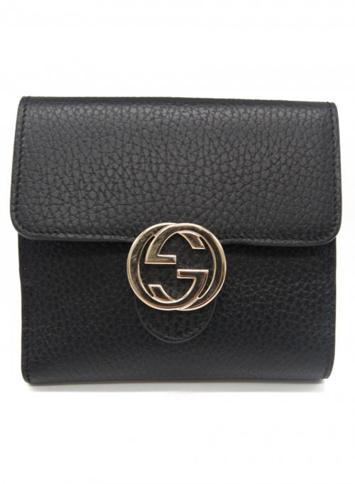 GUCCI(グッチ)GUCCI (グッチ) 財布 ブラック インターロッキングG 598167 2184の古着・服飾アイテム