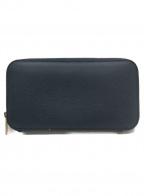 Valextra(ヴァレクストラ)の古着「長財布」|ネイビー