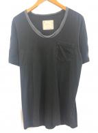 ()の古着「ポケットTシャツ」|ブラック