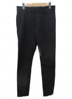 ()の古着「センタープリーツパンツ」|ブラック