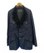 Salvatore Ferragamo(サルヴァトーレ フェラガモ)の古着「ナイロンワークジャケット」|ブラック