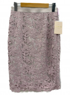 Apuweiser-riche(アプワイザーリッシェ)の古着「タイトレーススカート」 ピンク
