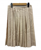 HERMES(エルメス)の古着「プリーツスカート」 ベージュ