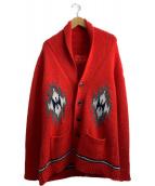 SAHAJA(サハジャ)の古着「カシミヤカーディガン」|レッド