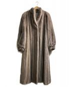 SAGA MINK(サガミンク)の古着「ミンクロングコート」 グレー