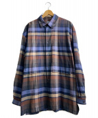 E.TAUTZ(イートーツ)の古着「ビックシルエットポケットシャツ」 ブラウン
