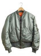 ALPHA(アルファ)の古着「MA-1ジャケット」 カーキ