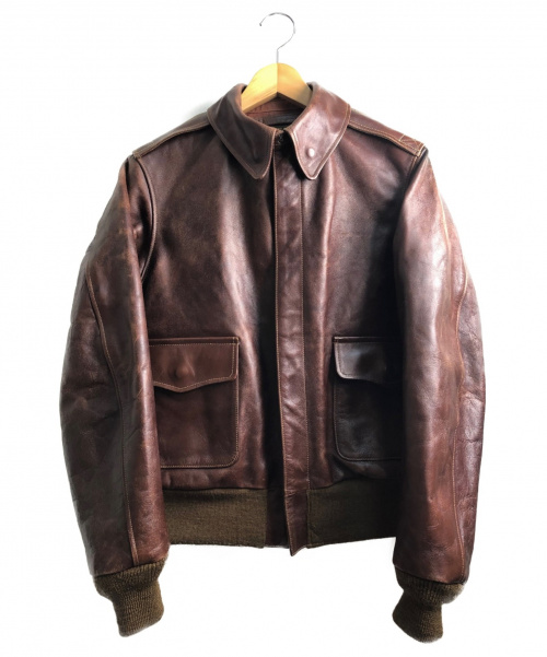 Buzz Ricksons(バズリクソンズ)Buzz Ricksons (バズリクソンズ) A-2レザージャケット ブラウン サイズ:36の古着・服飾アイテム