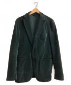 Belvest(ベルベスト)の古着「ベロアジャケット」|グリーン
