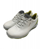 ECCO(エコ)の古着「ゴルフシューズ」|ホワイト×黄緑