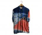 Sun Surf(サンサーフ)の古着「アロハシャツ」|ネイビー×オレンジ