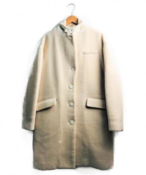 Ron Herman(ロンハーマン)Ron Herman (ロンハーマン) カシミヤ混ウールコート ホワイト サイズ:XS 無地 秋冬物の古着・服飾アイテム