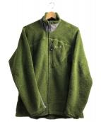 ()の古着「フリースジャケット」|グリーン