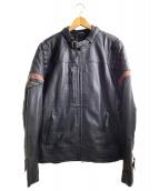 HARLEY-DAVIDSON(ハーレーダビットソン)の古着「レザーライダースジャケット」|ブラック
