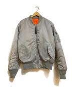 ()の古着「リバーシブルMA-1ジャケット」|グレー×オレンジ