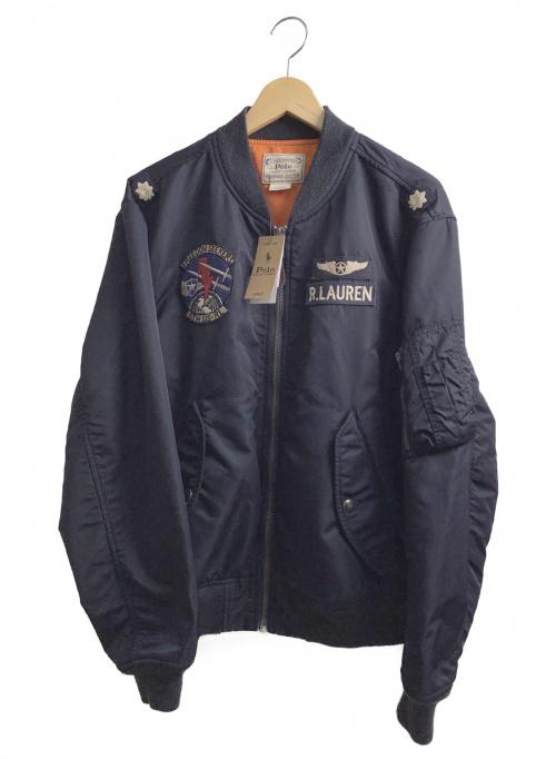 POLO RALPH LAUREN(ポロラルフローレン)POLO RALPH LAUREN (ポロラルフローレン) MA-1ボンバージャケット ネイビー サイズ:M 未使用品 秋冬物の古着・服飾アイテム