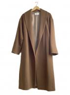 FRAY ID(フレイアイディー)の古着「ウールガウンコート」 ブラウン