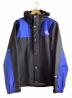 THE NORTH FACE(ザノースフェイス)の古着「マウンテンレインテックスジャケット」 ブルー×ブラック