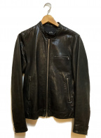 PAUL SMITH(ポールスミス)の古着「レザージャケット」 ブラック