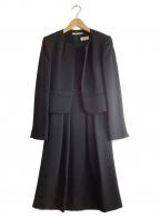 Chloe formal(クロエ フォーマル)の古着「ノーカラージャケットワンピース」|ブラック