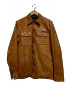 ()の古着「レザージャケット」 キャメル