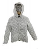 LAVENHAM(ラベンハム)の古着「フード付キルティングジャケット」|ホワイト
