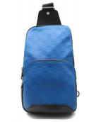 LOUIS VUITTON(ルイヴィトン)の古着「アベニュー・スリングバッグ/ボディーバッグ」|ブルー×ブラック