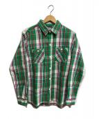 HOUSTON(ヒューストン)の古着「チェックシャツ」|グリーン