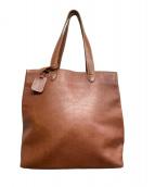 土屋鞄(ツチヤカバン)の古着「トールトートバッグ」|ブラウン
