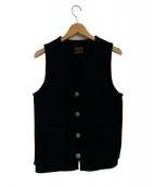 COOTIE(クーティ)の古着「フラワーコンチョベスト」 ブラック