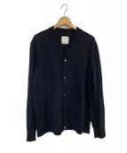 UNITED TOKYO(ユナイテッドトウキョウ)の古着「18ゲージウォッシャブルカーデ」 ブラック
