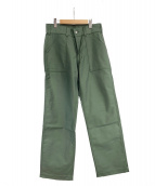 KOJIMA GENES(コジマジーンズ)の古着「ベイカーパンツ」 グリーン