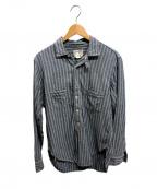 freewheelers(フリーホイーラーズ)の古着「スキッパーワークシャツ」 ブルー