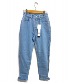 PAMEO POSE(パメオポーズ)の古着「サイドスリットデニムパンツ」|アイスブルー