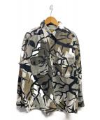 Calelas(-)の古着「シャツジャケット」|グリーン