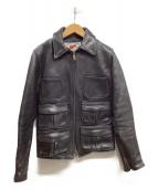 Aero LEATHER(エアロレザ)の古着「レザージャケット」|ブラック
