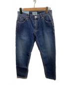 SERGE de bleu(サージ)の古着「テーパードデニムパンツ」|ブルー